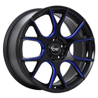 Dai Alloys Venom Gloss Black wheel | 17X7.5, 5x100, 73.1, 40 offset