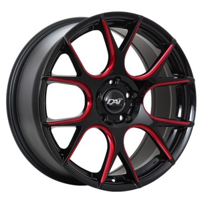 Dai Alloys Venom Black Red wheel (17X7.5, 4x100, 73.1, 42 offset)