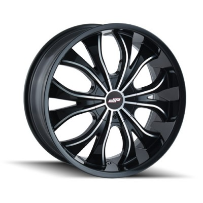 DIP HUSTLER D42 Gloss Black wheel (22X9.5, 5x114.3/120, 74.1, 35 offset)