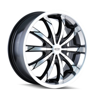 DIP SLACK D66 Machine Black wheel (22X8, 5x112/115, 72.62, 35 offset)