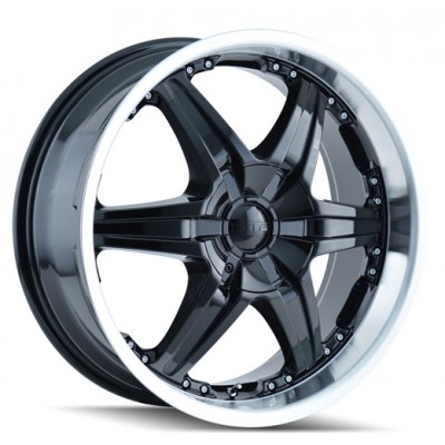 Dip D39 Wicked Black Machine Lip wheel (22X9.5, 5x115/127, 78.3, 18 offset)