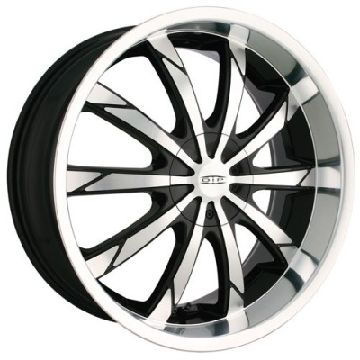 Dip D66 Slack Machine Black wheel (22X8, 5x112/115, 72.62, 35 offset)