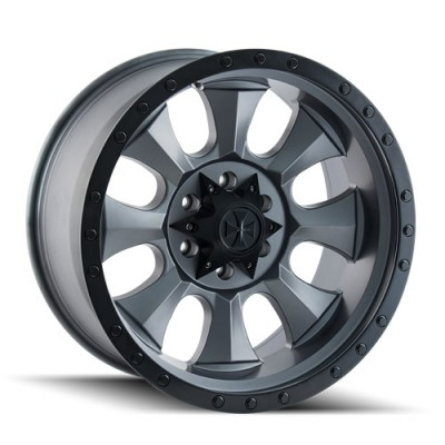 Dirty Life IRONMAN 9300 Matte Gun Metal wheel (20X10, 6x135, 87, -19 offset)