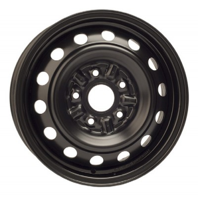 PMC Steel Wheels Black / Noir, 15X6, 5x100 ,(déport/offset 38 ) 60.1