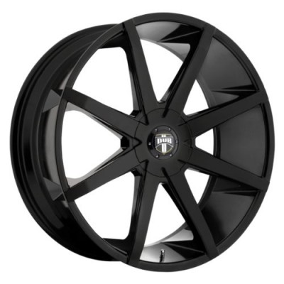 DUB Push S110 Gloss Black wheel | 22X9.5, 5x114.3/120, 72.6, 32 offset