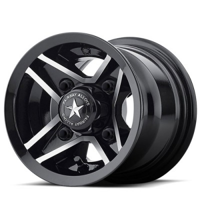 Fairway Alloys FA127 Divot Gloss Black Machine wheel (8X7, 4x101.6, 70.7, 9.14 offset)