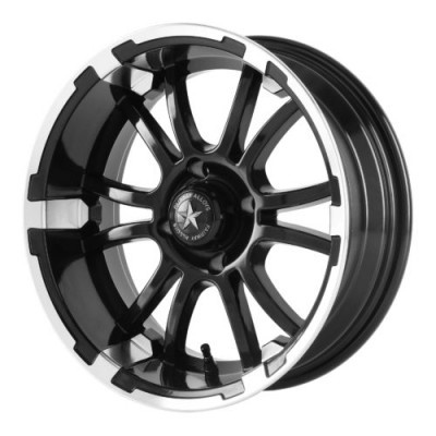 Fairway Alloys FA132 SIXER Machine Black wheel (12X6, 4x101.6, 70.70, -20 offset)