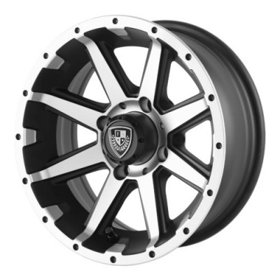 Fairway Alloys FA135 REBEL Machine Black wheel (12X6, 4x101.6, 70.70, -23 offset)