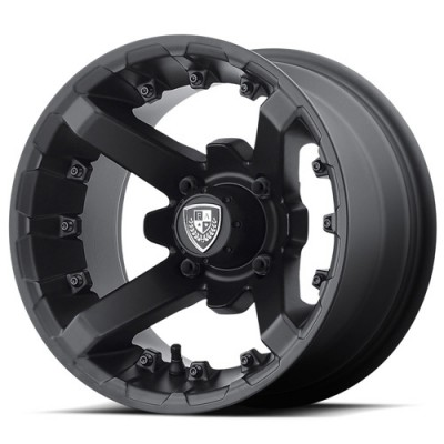 Fairway Alloys FA138 Battle Matt Black Machine wheel (12X7, 4x101.6, 70.7, 14.29 offset)