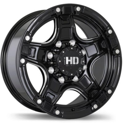 Fast Wheels Rampage Gloss Black Machine wheel (17X9, 5x135, 87.1, -13 offset)