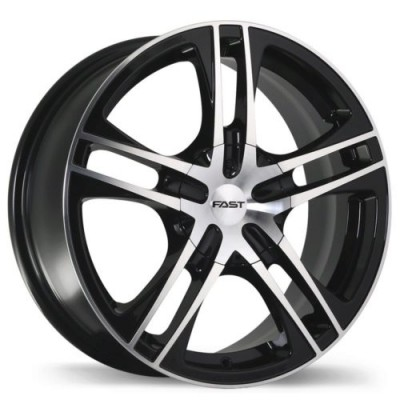 Fast Wheels Reverb Gloss Black Machine wheel (17X7, 5x108/114.3, 73, 42 offset)