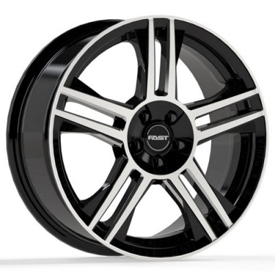 Fast Wheels Shadow Gloss Black Machine wheel (16X7, 5x108/114.3, 72.6, 45 offset)