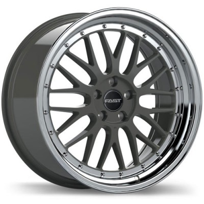 Fast Wheels Victory Machine Gunmetal wheel (18X8.5, 5x120, 72.6, 35 offset)