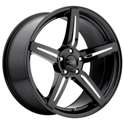 FOOSE Enforcer F154 Gloss Black wheel (20X10, 5x114.3, 72.6, 40 offset)