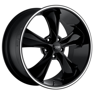 FOOSE Legend F104 Machine Black wheel (18X8.5, 5x120, 72.6, 34 offset)