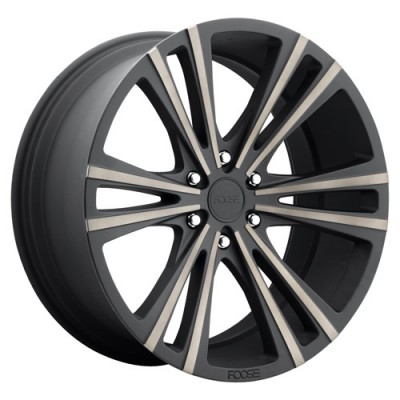 FOOSE Wedge F160 Machine Black wheel (22X9.5, 6x139.7, 78.1, 30 offset)