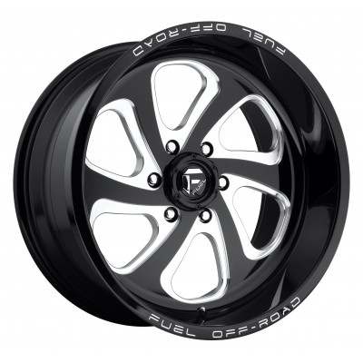 FUEL Flow 6 D587 Machine Black wheel (18X9, 6x139.7, 108, 1 offset)