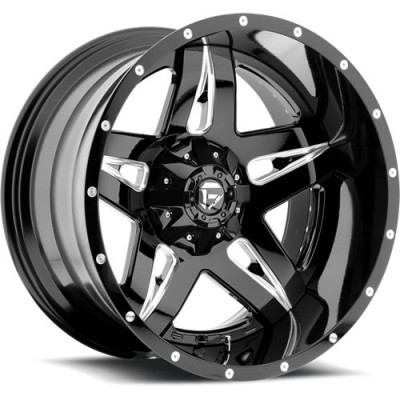 FUEL Full Blown D254 Machine Black wheel (22X10, 5x139.7/150, 110.3, -13 offset)
