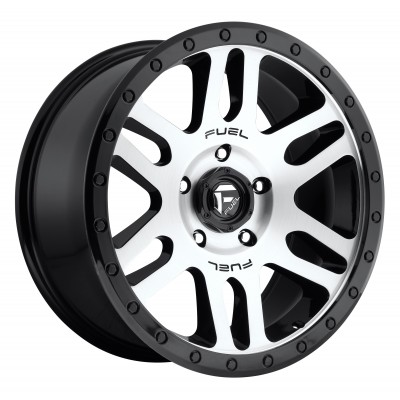FUEL Recoil D585 Machine Black wheel (17X8.5, 5x150, 110.3, 7 offset)