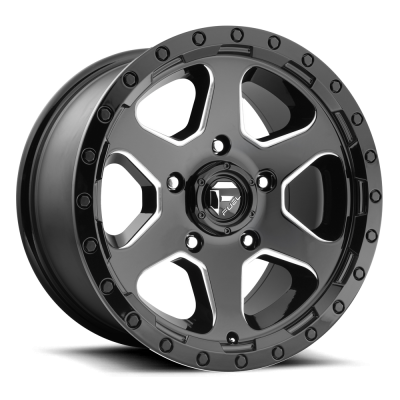 FUEL Ripper - AUS D590 Machine Black wheel (17X9, 6x139.7, 93.1, 35 offset)