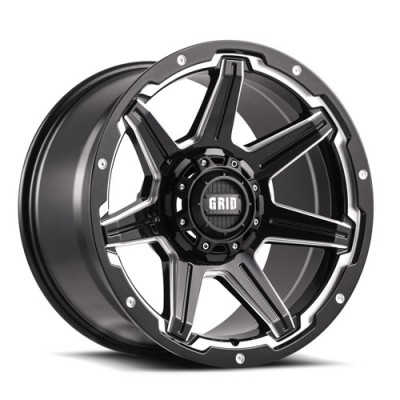 Grid GD06 Gloss Black Machine wheel (20X9, , 78.1, -20 offset)