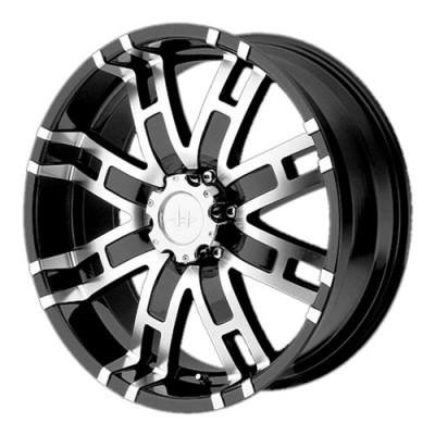 Helo HE835, Gloss Black Machined/Noir lustré machinée, 17X8, 6x139.7, (offset/déport 0) ,106.25
