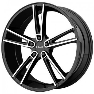 Helo HE899 Machine Black wheel (17X7, 5x114.3, 72.6, 24.92 offset)