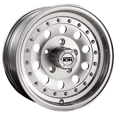 ION Alloy 71 Machine Silver wheel (15X7, 5x120.65, 83.06, -6.4 offset)