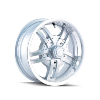 Ion Trailer 12 Hyper Silver wheel (15X6, 5x120.65, 83.82, 0 offset)