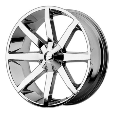 KMC Wheels Slide Chrome wheel (24X9.5, , 72.6, 25 offset)