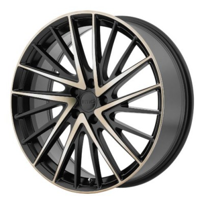 KMC KM697 NEWTON Machine Black wheel (18X8, 5x112, 66.56, 35 offset)