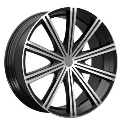 KRONIK EPIQ Gloss Black Machine wheel (22X8.5, 5x108/114.3, 73.1, 40 offset)
