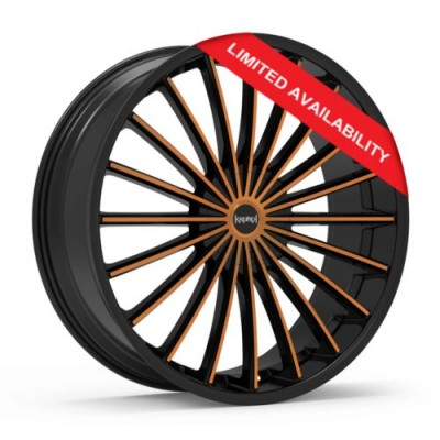 KRONIK KUSH Black wheel (22X8.5, 5x108/114.3, 73.1, 40 offset)