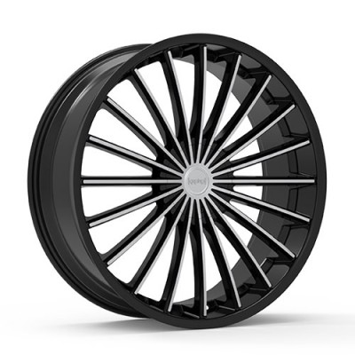 KRONIK KUSH Gloss Black Machine wheel (22X8.5, 5x108/114.3, 73.1, 40 offset)