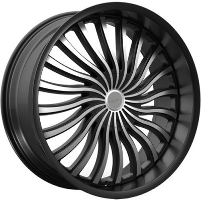 KRONIK PSYKOSIS Gloss Black Machine wheel (22X8.5, 5x114.3/120, 73.1, 40 offset)