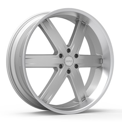 KRONIK ZERO Machine Silver wheel (24X9.5, 6x139.7, 100.3, 25 offset)