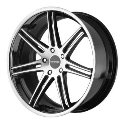 Lorenzo WL198 Gloss Black Machine wheel (20X10.5, 5x108, 72.60, 38 offset)