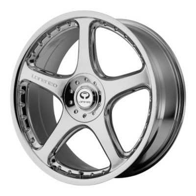 Lorenzo WL28 Chrome Plated wheel (20X8.5, 5x114.3, 72.60, 15 offset)