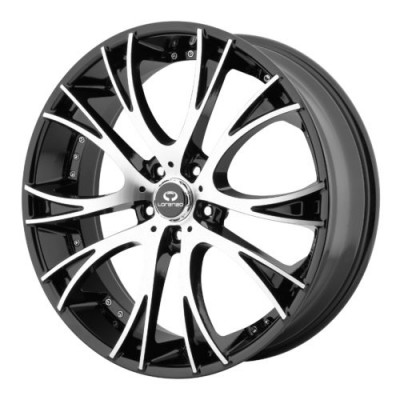 Lorenzo WL34 Gloss Black Machine wheel (22X9, 5x120, 74.10, 15 offset)
