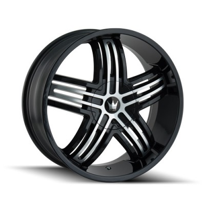 Mazzi ENTICE 368 Machine Black wheel (22X9.5, 5x114.3/120, 74.1, 35 offset)