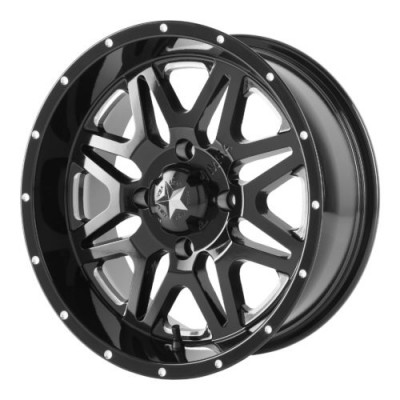 MSA Offroad Wheels M26 VIBE Machine Black wheel (14X7, 4x110, 86.00, 0 offset)