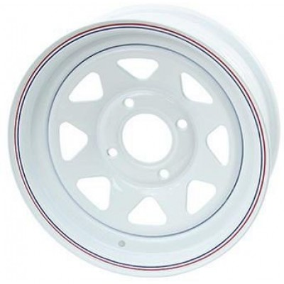 Odessa Trailer Wheel White wheel (12X4, 4x4, 71.12, -3.2 offset)