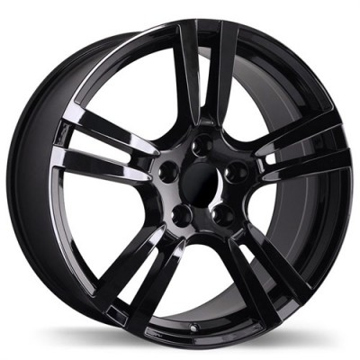 Replika Wheels R140A Black wheel (18X8, 5x130, 71.6, 50 offset)