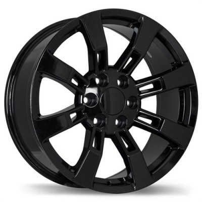 Replika Wheels R160 Black wheel (22X9, 6x139.7, 78.1, 31 offset)