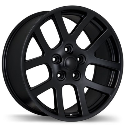 Replika Wheels R161A Matte Black wheel (20X9, 5x139.7, 77.8, 25 offset)