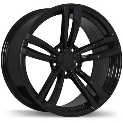 Replika Wheels R163A Black wheel (18X8, 5x120, 72.6, 35 offset)