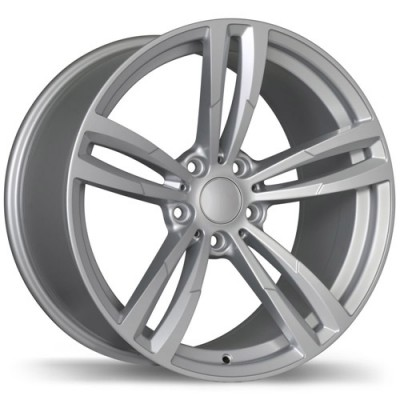 Replika Wheels R163A Hyper Silver wheel (18X8, 5x120, 72.6, 35 offset)