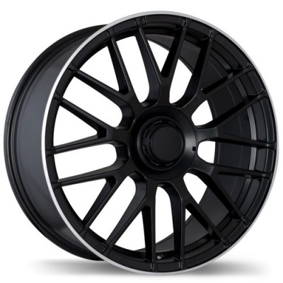 Replika R183 Matt Black Machine wheel (19X8.5, 5x112, 66.5, 35 offset)