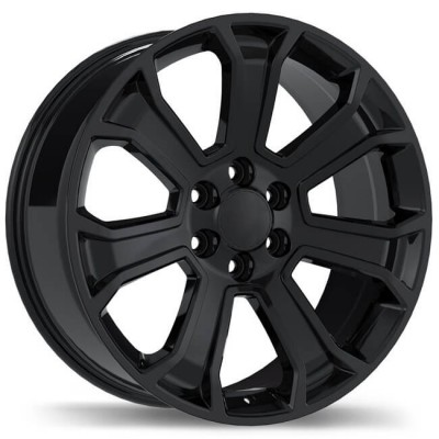 Replika R204 Gloss Black wheel | 20X9, 6x139.7, 78.1, 24 offset