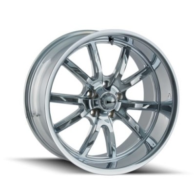 Ridler 650 Chrome wheel (20X10, 5x114.3, 72.62, 38 offset)